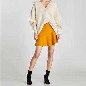 Zara Mustard Knit Skirt NWT